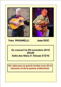 Jean Duc et Yves Paganelli (Chanson et Poésie)