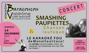 Les Smashing Paupiettes + Le Karaoké Fou de DJ Monette et Coco