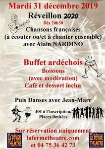 Réveillon de la St Sylvestre avec Alain Nardino (Chanson Française)
