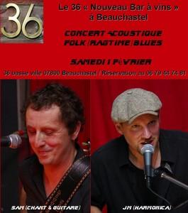 Concert Acoustique avec Sam & Jean-Marc (Folk /Blues)