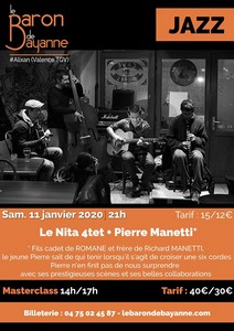 Nita 4tet & Pierre Manetti (Jazz) + Masterclass