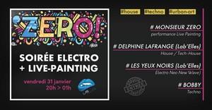 Soirée Electro & Live Painting avec Delphine Lafrange + Chloé Les Yeux Noirs + Bobby