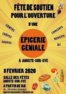 Fête de Soutien à l'Epicerie Géniale avec + Denis Gaud et son Orchestre + Claire Alauzen + Virginie Cointepas