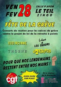 Fête de la Grève - Concerts de Soutien avec Manbouss + Robinsonne + Thorne + Léon & Les Darons
