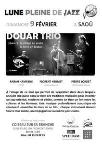 Lune pleine de jazz avec Douar Trio (Jazz Oriental Aérien)
