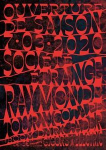 Ouverture de Saison avec Société Étrange + Raymonde + Tournicotape + Boom avec Dark Fader