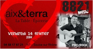 Repas Concert Saint Valentin avec 8821 (Pop Rock Acoustique)