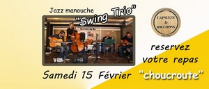 Repas Concert avec Swing Trio (Jazz Manouche)