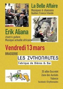 Double Concert avec La Belle Affaire + Erik Aliana