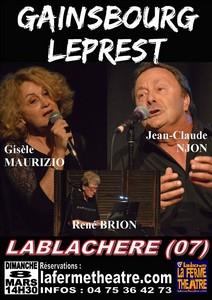 Gainsbourg et Leprest par Gisèle Maurizio et Jean-Claude Njon accompagnés de René Brion au piano