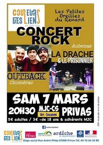 Les Petites Oreilles avec Outback + La Drache & Le Prisonnier