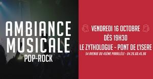 Soirée Ambiance Musicale Pop-Rock